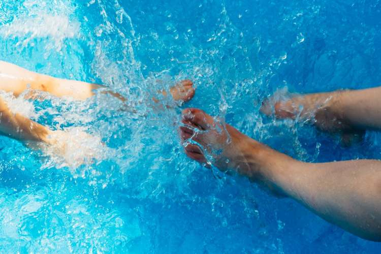 water therapy care for disabled autistic children people with parents